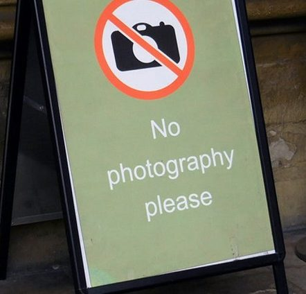 photography not allowed in museums